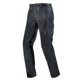 Pánské kožené moto kalhoty Spark Jeans, černé lesklé