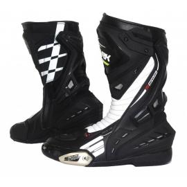 Cestovní moto boty Spark Mugello, černo/bílé - 40