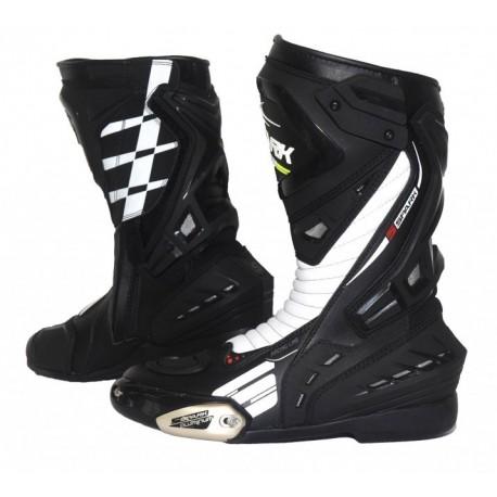 Cestovní moto boty Spark Mugello, černo-bílé