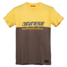 Pánské triko Dainese DUNES (Settantadue) hnědá/žlutá