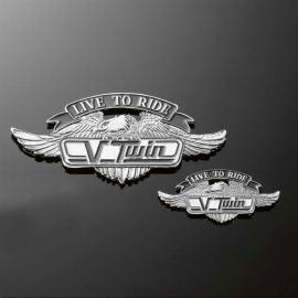Emblém samolepící Highway Hawk V-TWIN LTR, 55mm