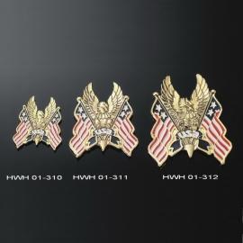 Emblém samolepící, Highway Hawk EAGLE/USA FLAG, 60mm