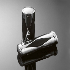 Gripy 25mm Highway Hawk DIAMOND, leštěný chrom (2ks)