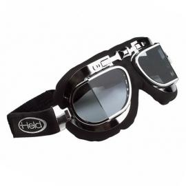 Motocyklové brýle Held CLASSIC, stříbrný rám, lomené, dvojité sklo