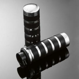 Gripy 25mm Highway Hawk COMFORT s uchycením lanek, černá/chrom (2ks)