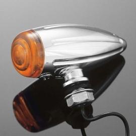 Sklíčko pro světlo motocyklu Highway Hawk BULLET Tech Glide, oranžová (1ks)