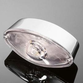 Highway Hawk Koncové světlo na motorku CATEYE, E-mark, chrom (1ks)