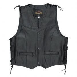 Pánská motorcyklová vesta Held PATCH, černá, kůže