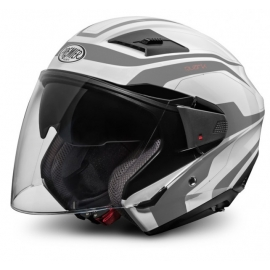 Moto helma Premier Bliss, bílo-stříbrná