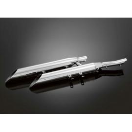 Otevřené výfukové koncovky / tlumiče Highway Hawk SLASHCUT EXTREME pro motocykly HONDA VTX1300R/S