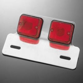 Sklíčko pro koncové světlo motocyklu Highway Hawk DUAL SQUARE, červená (1ks)