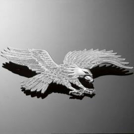 Highway Hawk Emblém samolepící HAWK 230x120mm (orel), chrom