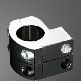 Univerzální objímka Highway Hawk na řidítka 25mm, pro zpětná zrcátka, chrom (1ks)