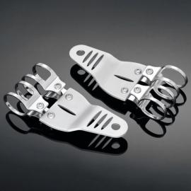 Držáky Highway Hawk TECH GLIDE pro hlavní moto světlo, boční montáž, chrom (2ks)