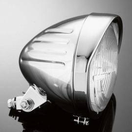 Hlavní motocyklové světlo Highway Hawk TECH GLIDE, d140mm, E-mark, chrom (1ks)