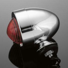 Světlo na motorku Highway Hawk BULLET s krátkou nožičkou, chrom (1ks)