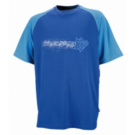 Dámské triko iXS LOTUS modré, 100% bavlna