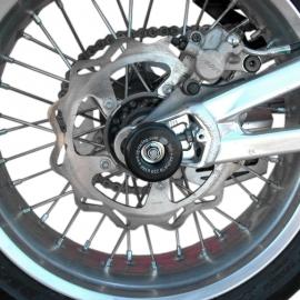 Chrániče kyvné vidlice, Aprilia SXV 450/550 '06, SL750 Shiver, Dorsoduro 750, černé