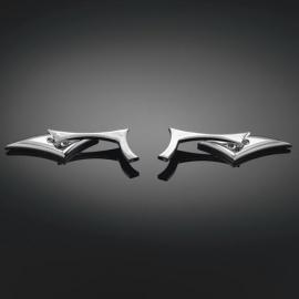 Motocyklová zrcátka Highway Hawk RAZORBACK, Levá i Pravá strana, chrom (2ks)