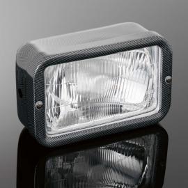 Hlavní světlo na motorku Highway Hawk, E-mark, karbon (1ks)
