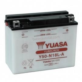 Baterie YUASA 12V 20Ah  Y50-N18L-A (dodáváno bez kyselinové náplně)