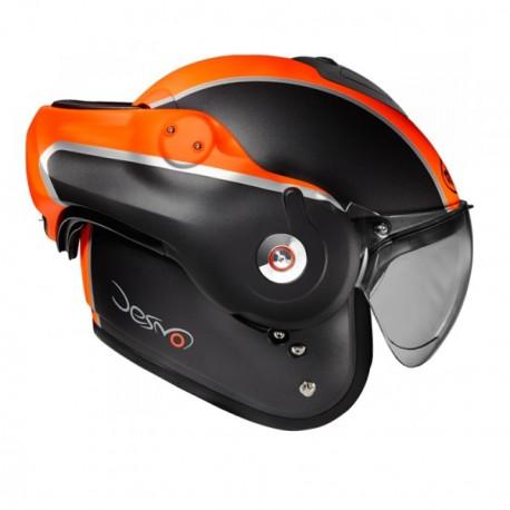 Moto helma Roof Desmo Flash, černá matná, oranžová