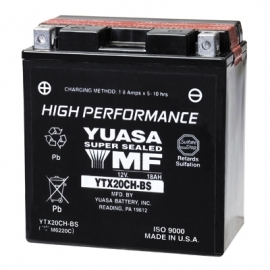 Baterie YUASA 12V 18Ah  YTX20CH-BS (dodávané s náplní)