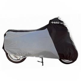 Nepromokavá horkuvzdorná plachta Held na motorku, černá/šedá