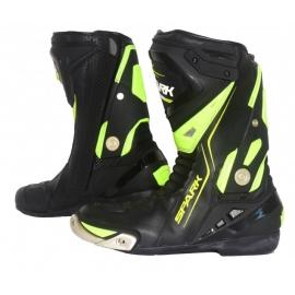 Cestovní moto boty Spark Silverstone, černé/fluo - 41