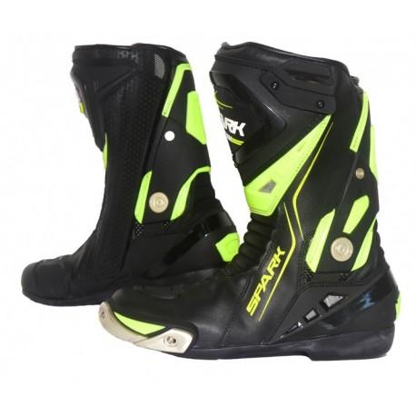 Cestovní moto boty Spark Silverstone, černé-fluo
