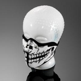 Obličejová maska Highway Hawk SKULL MAN, hliníková spona na nos