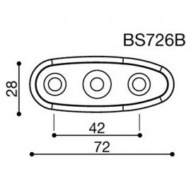 Montážní adaptér BS726B pro zpětná zrcátka RIZOMA do kapotáže - pro motocykly SUZUKI, černý