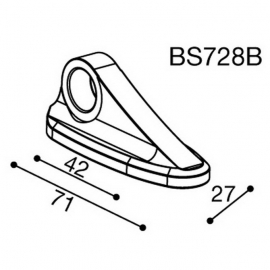 Montážní adaptér BS728B pro zpětná zrcátka RIZOMA do kapotáže - pro motocykly SUZUKI GSXR 1000/ 750/ 600, černý