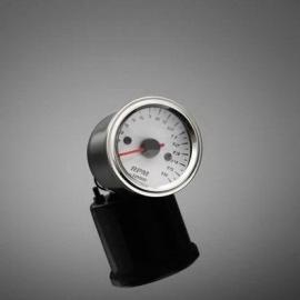 Highway Hawk Otáčkoměr elektronický s držákem pro čtyřtakt, 16000 ot., 52mm, chrom/bílý/LED multi