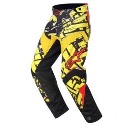 Motokrosové kalhoty Alpinestars CHARGER BLOCKZ vel.28 žlutá/černá/červená