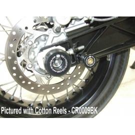 Chrániče kyvné vidlice - KTM 690SM/690 Duke III '08-/690 Enduro '08-/690 SMC '08-, černé