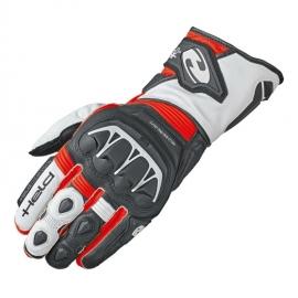 Sportovní motocyklové rukavice Held EVO-THRUX 2 černá/červená/bílá, kůže
