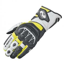 Sportovní motocyklové rukavice Held EVO-THRUX 2 černá/fluo žlutá/bílá, kůže