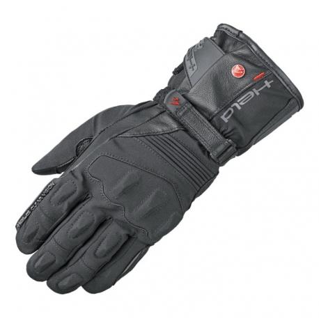 Dámské moto rukavice Held SATU 2v1 GORE-TEX černá, kůže/textil
