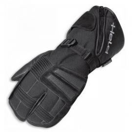 Motocyklové rukavice 2 x 2 prsty Held NORDPOL černé, textil/kůže (pár)