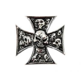 Samolepící emblém Highway Hawk GRAVE-X SMALL - lebky v kříži