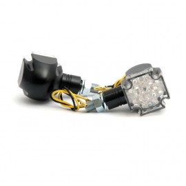 Moto blinkry Highway Hawk GOTHIC s LED, E-mark, černá (2ks)