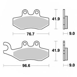 Brzdové destičky KYOTO, přední i zadní, pro motocykly APRILIA, DERBI, PIAGGIO