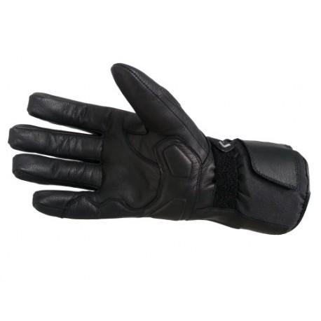 Pánské kožené moto rukavice Spark STT, černé