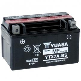 Baterie YUASA 12V 6Ah YTX7A-BS (dodáváno s kyselinovou náplní)