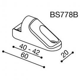 Montážní adaptér BS778B pro zpětná zrcátka RIZOMA do kapotáže - pro motocykly HONDA, MV AGUSTA, SUZUKI, černý