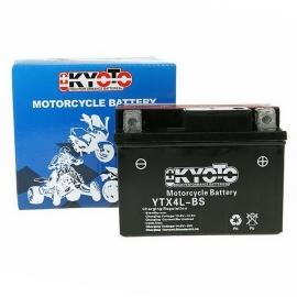 Baterie KYOTO 12V 3Ah  YTX4L-BS (dodáváno s kyselinovou náplní)