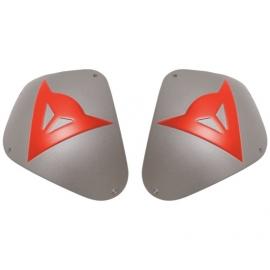 Dainese slidery na ramena KIT SHOULDER SOIRT ALUM. hliník/fluo červená (pár)