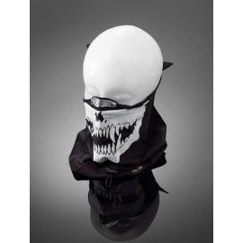 Highway Hawk obličejová maska s nákrčníkem SKULL, hliníková spona na nos, bavlna