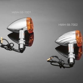 Moto blinkry Highway Hawk TECH GLIDE grooved 38mm, E-mark, chrom (2ks)
